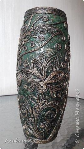 Здравствуйте! Показываю новую вазу под малахит.  фото 1