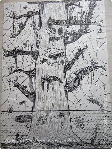 Доброе время суток, всем кто заглянул в гости. Предлагаю вашему вниманию рисунки моих учеников. Работы участвовали заочном в областном конкурсе.  Болотникова Мария 5л. представила таким волшебный лес восковыми мелками по наждачной бумаге. фото 6