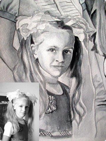 Семейный портрет. Акварель. Формат А3.  фото 8