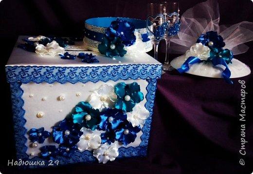 Свадьба в синех тонах.