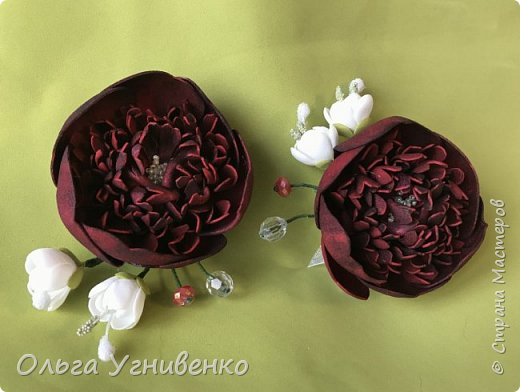 Приветствую всех жителей и гостей прекрасной СТРАНЫ МАСТЕРОВ!! Представляю Вам браслеты и кольца для подружек невесты (заказ). Цветы выполнены из фома, украшены бисером, бусинами и ленточками. фото 11