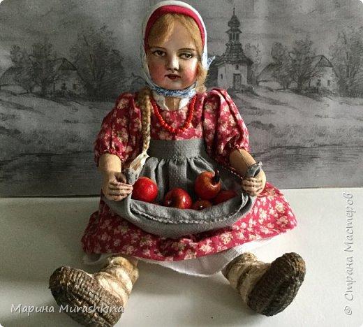 """Кукла  """"ЯБЛОЧНЫЙ СПАС"""" в технике тедди-долл...точнее, наверное, сказать 'по мотивам'. Шила я такую куклу вперые, решила вот попробовать. Что-то мне понравилось в процессе, что-то было совсем непривычным.   фото 2"""