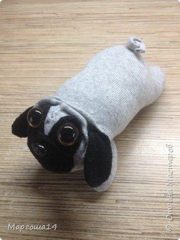 """Привет всем жителям Страны Мастеров!!! Продолжаю """"носочную"""" тему - шью игрушки из носков. Это две собачки. фото 3"""