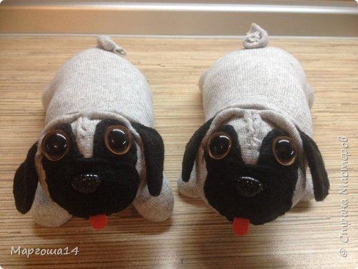 """Привет всем жителям Страны Мастеров!!! Продолжаю """"носочную"""" тему - шью игрушки из носков. Это две собачки. фото 1"""