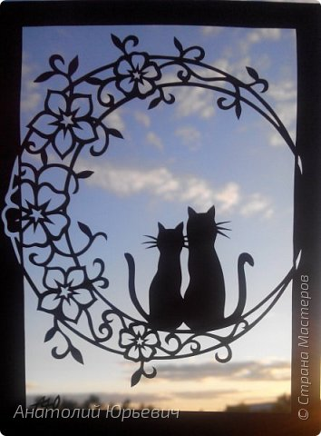 Всем привет! Март продолжается! Вашему вниманию новая открытка) Эскиз выполнен по рисунку из интернета, изменён и доработан ( вместо одной кошки, стала парочка, и свой орнамент) фото 6