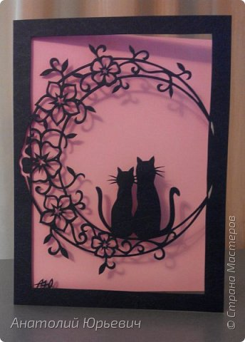 Всем привет! Март продолжается! Вашему вниманию новая открытка) Эскиз выполнен по рисунку из интернета, изменён и доработан ( вместо одной кошки, стала парочка, и свой орнамент) фото 5