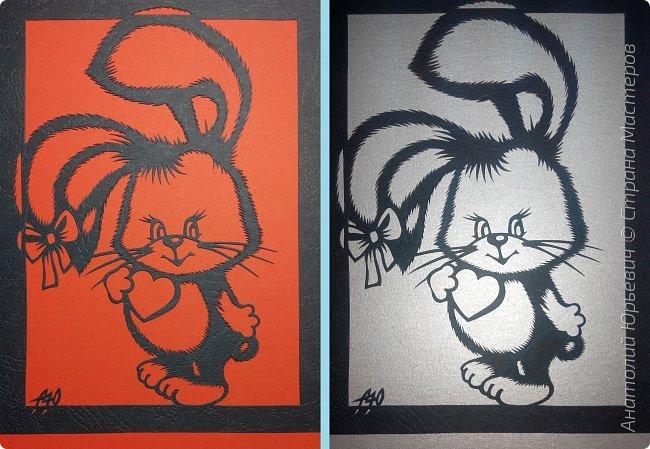 """- Всем добрый день! Вашему вниманию новая открытка которая порадует не только детей, но и взрослых. - Эскиз был выполнен, изменён и доработан под """"вырезалку"""" по работе детского художника-иллюстратора Марины Федотовой. - Идею """"подсказала"""" Нельча. (В комментарии к открытке """"Зайчик-одуванчик"""") - Размер 12х16см фото 9"""