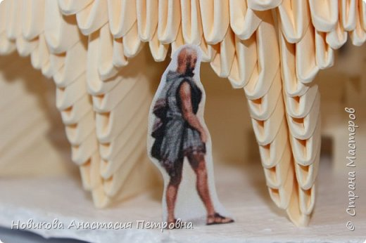 """Участвовали в прошлом учебном году со  старшей дочерью  в конкурсе оригами. Тема конкурса была """"Большая география"""". Необходимо было подумать и решить, в каком интересном месте хотелось бы побывать! Думали, думали и придумали. Приготовьтесь с нами сделать свой """"Колизей"""" или амфитеатр Флавиев! :) фото 19"""