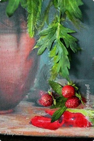 Всем привет. Хочу показать свои картины-панно с цветами из фоамирана. Распечатаны на холсте, размеры 50-40 см. фото 2