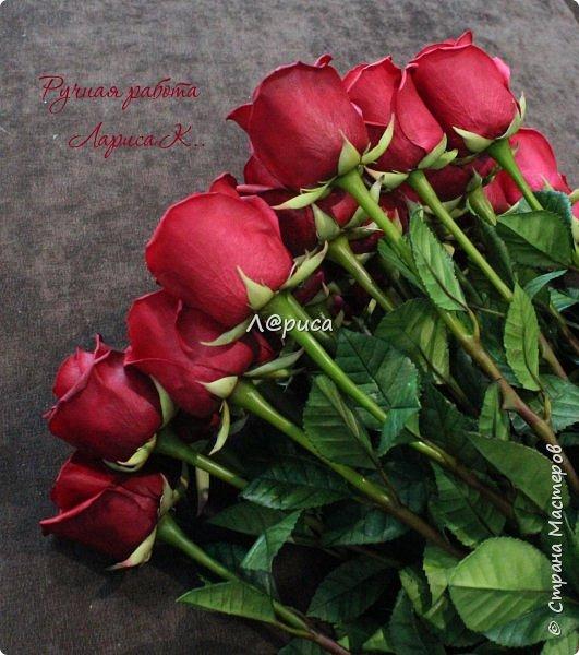 "Букет бутонных роз ""Freedom"" . Высота роз 62 см  фото 2"