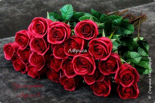 "Букет бутонных роз ""Freedom"" . Высота роз 62 см  фото 4"