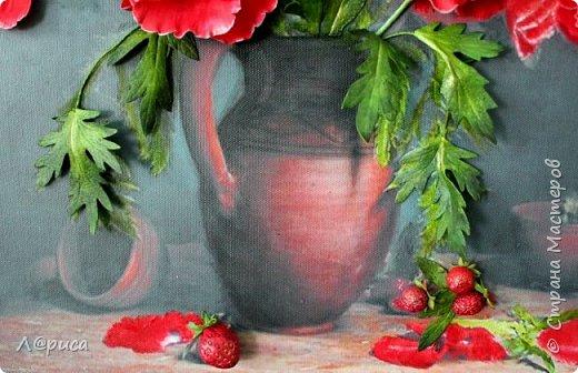 Всем привет. Хочу показать свои картины-панно с цветами из фоамирана. Распечатаны на холсте, размеры 50-40 см. фото 3