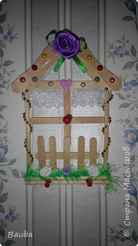 Ключница из палочек с под мороженого))) фото 1