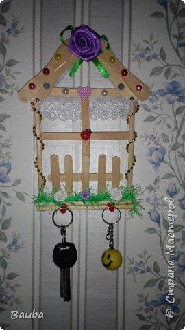 Ключница из палочек с под мороженого))) фото 2