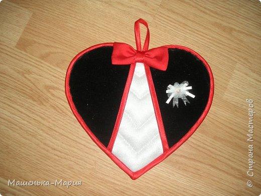 Прихватки в форме сердечек, изображающих жениха и невесту, на юбилей свадьбы очень хорошим людям.  фото 2