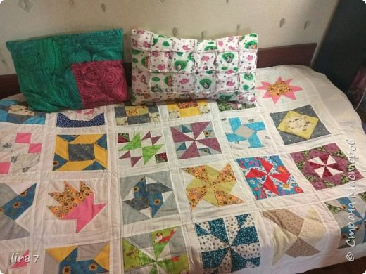 С детства хотелось , чтобы у нас дома было лоскутное одеяло.  И вот - исполнила свою мечту!  фото 1