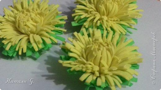 Одуванчики из фоамирана фото 11