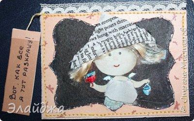 """Привет всем! Сегодня я с АТС серией, которая родилась спонтанно увидев работы мастерицы ИРИСКА 2012 , ее серию """"Счастье"""" (http://stranamasterov.ru/node/1109851). Я вспомнила, что у меня тоже есть 3 такие открыточки с картинками художницы Евгении Гапчинской , их в коробках конфет находят, есть такая серия.... Раньше их крутила-вертела и все не могла понять что с ними делать...видать всему свое время. Ириша спасибо за творческий толчек. фото 17"""