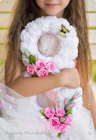 Объёмную цыферку делала для своей дочери на день рождения для фотосессии, потом использовали как украшение зала)))) фото 1