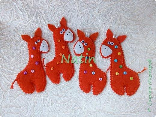 Как-то у нас было оранжевое настроение... И пошились такие жирафики... фото 1