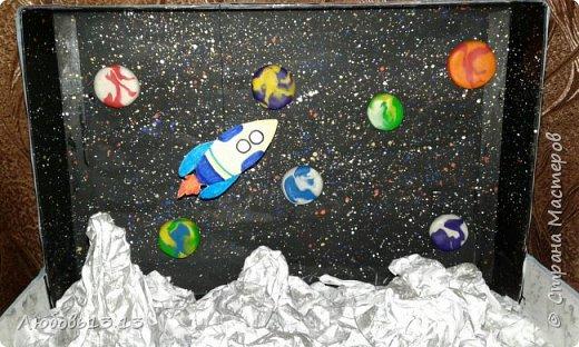 Это произведение делала племяннику в школу,была тема космоса. фото 2