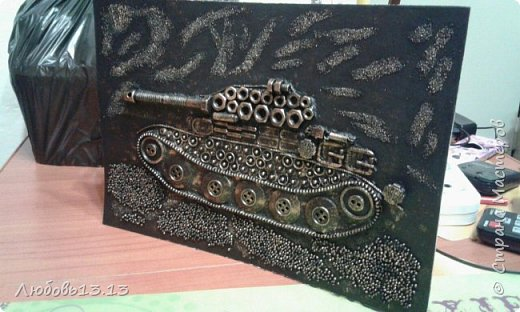 Опять же насмотревшись работ мастериц,захотелось тут же повторить)))И вот получился такой танк. фото 5