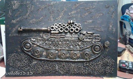 Опять же насмотревшись работ мастериц,захотелось тут же повторить)))И вот получился такой танк. фото 6