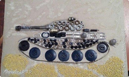 Опять же насмотревшись работ мастериц,захотелось тут же повторить)))И вот получился такой танк. фото 2