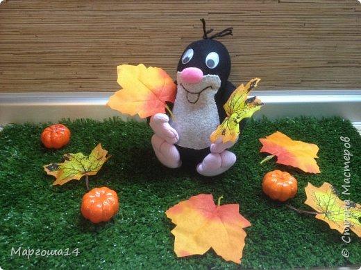 Привет  ВСЕМ!!! Продолжаю придумывать и шить из носков игрушки. Это крыска с сумочкой,в которой лежит кусочек сыра.  фото 13