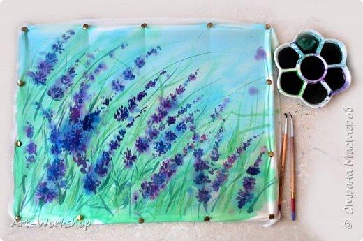 Видео мастер-класс свободной росписи по шелку рисуем Лаванду