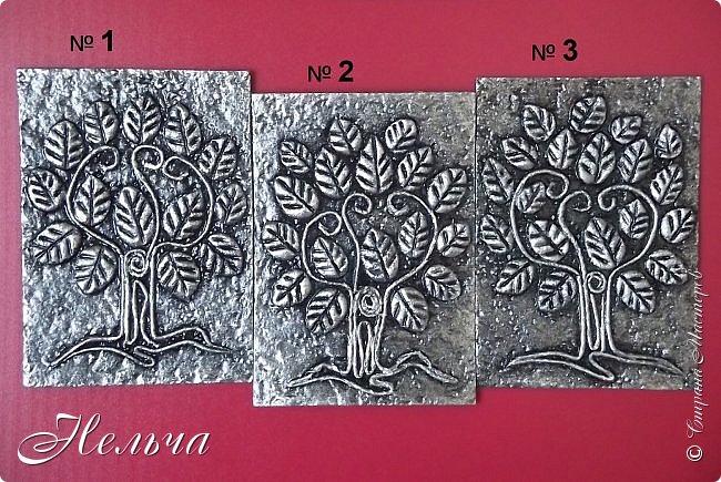 Очень мне понравились деревья у Дижи и решила я тоже сделать деревья. Теперь у меня будет пара к её деревцу. Ствол и веточки из салфеточных жгутиков, листочки из солёного теста. Два дерева - золотых, два - серебряных, и два - бронзовых.  фото 5
