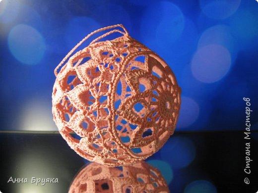 Елочный шар крючком фото 2