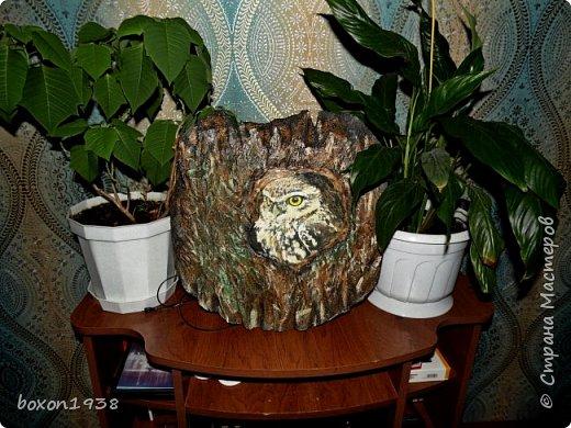 Имитация коры дерева на пенопласте... фото 3