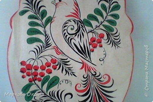 Добрый вечер ! Впервые делала роспись разделочной доски гуашью , оцените как получилось... фото 3