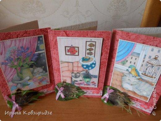 Три открытки про кошек. Рисунки Натальи Шумихиной (в СМ -Ильиновой) фото 1