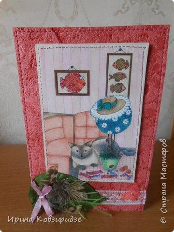 Три открытки про кошек. Рисунки Натальи Шумихиной (в СМ -Ильиновой) фото 5