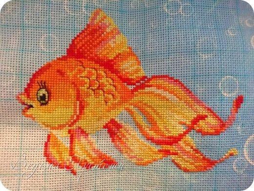 Стараюсь делать все по фен-шую, чтоб исполняла мои желания. на 18 канве с пузырьками приговорена жить рыбка
