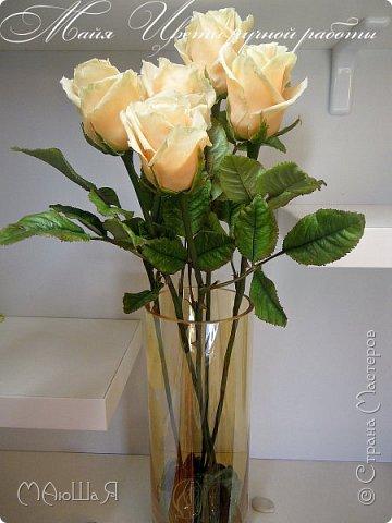 Здравствуйте! Букет роз сорта Талея очень полюбившийся мной. Помог мне в создании этих прекрасных цветов мастер класс Инны Голубевой, за что ей огромное спасибо! фото 2
