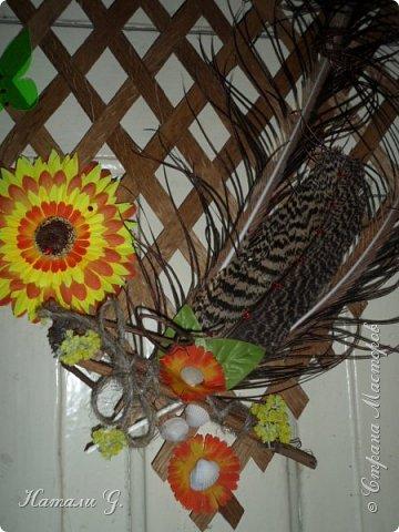 Панно с перьями фото 3