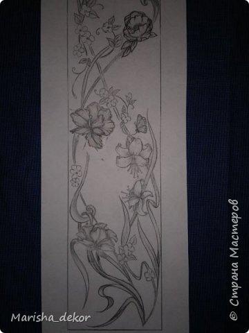 Доброго времени суток) Спешу порадовать новой красотой!) Цветочное панно на лестничном пролете, размер 350х65 см. Было интересно и временами сложно) фото 2