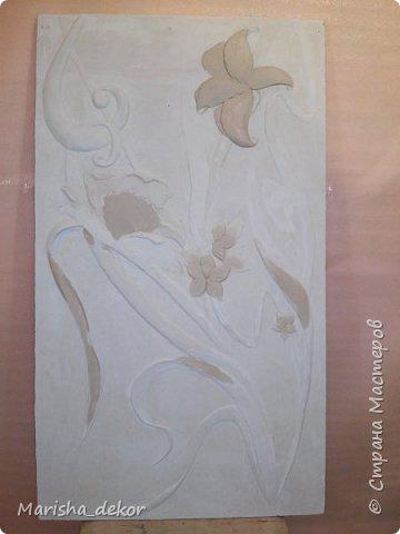 Доброго времени суток) Спешу порадовать новой красотой!) Цветочное панно на лестничном пролете, размер 350х65 см. Было интересно и временами сложно) фото 4