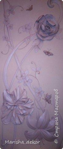 Доброго времени суток) Спешу порадовать новой красотой!) Цветочное панно на лестничном пролете, размер 350х65 см. Было интересно и временами сложно) фото 9