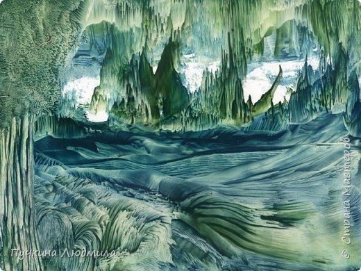 """""""Северный пейзаж"""", ф.А.4, картон,  утюг, воск, техника - Энкаустика фото 3"""