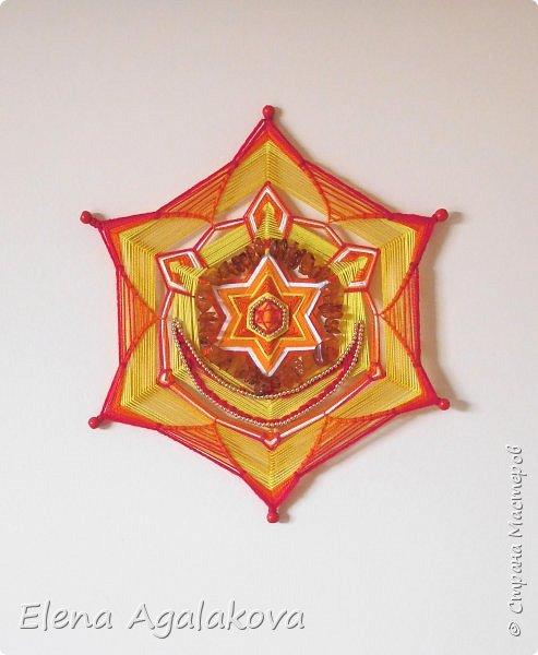 Очень давно уже хотела сделать Мандалы-Чакры. Наконец нашла время!  Вторая чакра-мандала Свадхистана . Цвет- оранжевый. Символически изображается в виде оранжевого лотоса с шестью лепестками. В середине лотоса — полумесяц.  фото 4