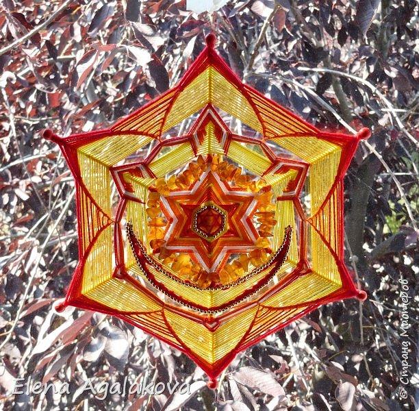 Очень давно уже хотела сделать Мандалы-Чакры. Наконец нашла время!  Вторая чакра-мандала Свадхистана . Цвет- оранжевый. Символически изображается в виде оранжевого лотоса с шестью лепестками. В середине лотоса — полумесяц.  фото 2