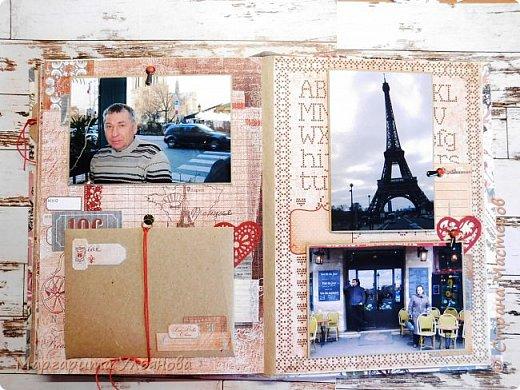 Прошло 6 лет и наконец-то я созрела на создание альбома о нашей поездке в прекрасный город Париж! на предприятии, где мы с мужем работали, предлагали путёвки в Карловы Вары с большой скидкой-помощью от предприятия. Ну, грех было не воспользоваться))). А из КВ мы немного и попутешествовали. Некоторые мои знакомые морщили нос: что за мечта такая побывать в Париже? Фу... А зря, между прочим. Мы провели два прекрасных дня! Прекрасных! Удивительный город! Со своей неповторимой красотой и атмосферой. 5 февраля, температура +5, французы кутаются, им холодно. А нам чудесно). Знаете, даже дорога 16 часов в один конец не испортила впечатление от поездки. Вы же понимаете, что делала альбом с большим удовольствием. И гости наши всегда его рассматривают. Он и самый большой по высоте, размер формата А4.  фото 6