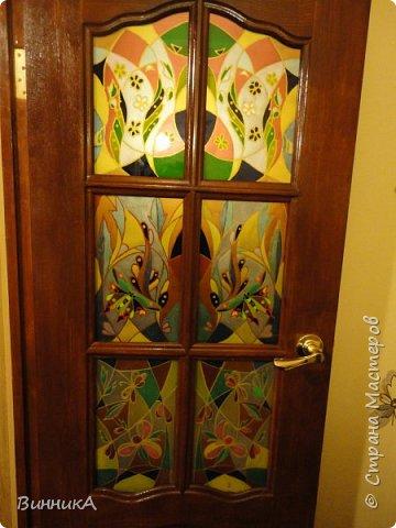 Витраж - роспись по стеклу. фото 2
