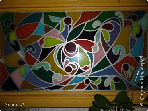Витраж - роспись по стеклу. фото 1