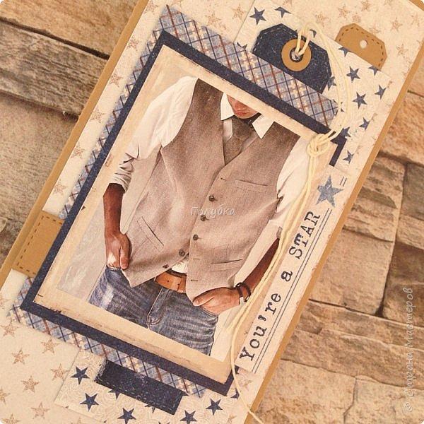 """Эта открытка выполнена в качестве """"конфетки""""  , которая была у меня  вк в  честь дня рождения сына.  Участвовали только друзья мой странички с местом проживания Псков:) Повезло моей постоянной заказчице:)  Повод День рождения внука. фото 7"""