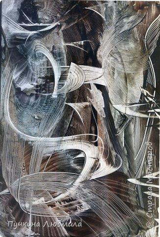 "Из серии ""Всевидящее ОКО"", ф.А.4, картон, утюг,  воск, техника - Энкаустика фото 2"